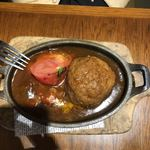 BREAD&DISHES MUGINOKI - 相方の糸島産雷山豚100%の煮込みハンバーグ@1580