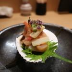 四季彩 葉月 - 赤貝と独活の酢味噌和え