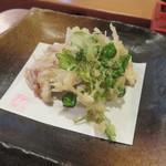 石臼挽き手打蕎麦 むら木 - 焼穴子天ぷら