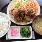 ごちそうさん食堂 - 祝 北広島ザンギ定食(ご飯大盛り)
