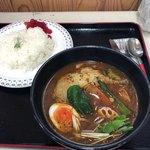レストラン わいわい - 料理写真:スープカレー チキン。1000円なり‼️