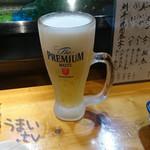 二半亭 - ドリンク写真:「プレミアムモルツ ジョッキ」 540円