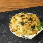 帆立貝とトリュフのクリームグラタン