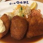 83763605 - 白身魚フライ、シナモンコロッケ、チキンカツがメイン料理
