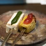 宇豆基野 - 2018.3 豆腐田楽 木の芽みそ、生麩田楽 苺ジャム