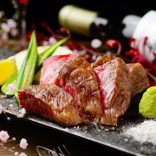 【名物】黒毛和牛ステーキ