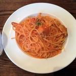 83765092 - ワタリガニのトマトクリームスパゲッティー