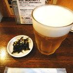 うまかんべえ - 生ビールとお通し