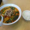 台湾料理 錦城 - 料理写真:「豚骨台湾マーラーメン」680円と「ライス小」100円