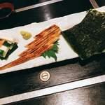舟磯 - 蒸し穴子磯辺巻750円