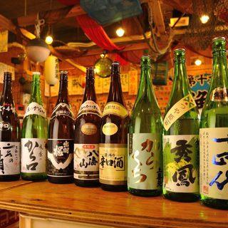 地酒が豊富40種類以上取り揃え