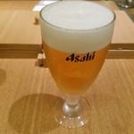 稲庭うどんとめし 金子半之助 - 生ビール
