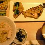 さち福や CAFE - 赤魚の粕漬けと春の竹の子ご飯定食