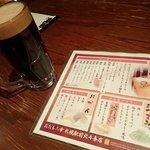 """小樽 ニュー三幸 - """"ほろ酔いセット""""のドリンク;エビスプレミアムブラック選択. シブいだろォ~!<(`^´)> @2017/10/27"""