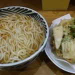 ウエスト - うどん(細麺) 竹の子と菜の花のかき揚げ、大盛