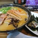 ら~めん 是々非々 - 料理写真:みそラーメンとお寿司屋さんのチャーマヨ手巻き