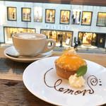 CoffeeLounge Lemon - シチリアからきたレモンタルト(600円)/ カフェラテ(セットドリンク価格 450円)