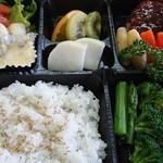 レストラン道 - 4月1日から6月末迄の限定メニュー。【なかがわ飯】温泉トラフグ・八溝山ししまる・ホンモロコが、1度に食べられるお弁当。要予約制となります。¥3000税込