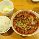 83796484 - 水煮牛肉定食1100円