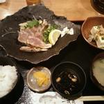 一進丸 - カンパチのわら焼き定食1,000円