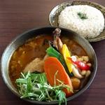83802436 - チキンと野菜+ライスL(1480円)