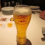 ワインビストロ 博多西中洲 ぶどうの樹 -  先ずは3人でビールで乾杯です。