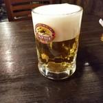 手打ちそば ほさか - 生ビール