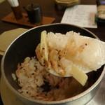 日本料理 花遊膳 - お焦げはうまいんでないかぇ
