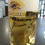 炭火焼肉 銘柄黒毛和牛 福楽苑 - 生ビールは一番搾り600円