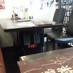 炭火焼肉 銘柄黒毛和牛 福楽苑 - 隣のテーブル席