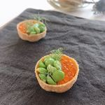 メゾン ラフィット - 赤うに マスの卵 えんどう豆のリエット