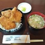 とんかつ政ちゃん - 料理写真:3枚かつ丼 918円+味噌汁 184円