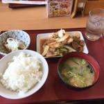 松原食堂 - 料理写真:【春の味わいフェア】竹の子と豚肉の味噌炒め