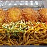 佐野サービスエリア(下り線) ハイウェイショップ - 料理写真:いもフライと焼そばセット