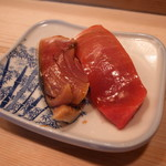 金井寿司 - 鯖・鮪(中とろ)