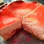 焼きたてチーズタルト専門店PABLO - つぶつぶいちごチーズタルト(断面)