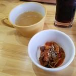 ブルシット - スープと何か一品が付いたランチ