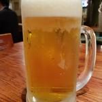 鍛冶屋 文蔵 - 生ビール・モルツ(529円)