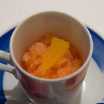 アクア パッツァ - カンパリとオレンジのグラニテ
