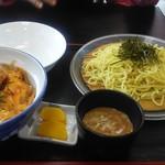 中華料理 正ちゃん - Aセット半カツ丼800円