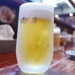 寿福 - 生のグラスもキンキン