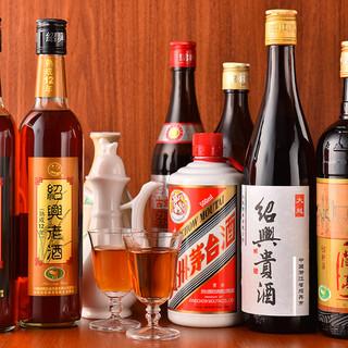 料理を際立たせる厳選された紹興酒たち