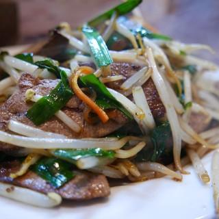 寿福 - 料理写真:レバニラ炒め