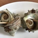 伊豆高原ビール うまいもん処 - 【2018.4.2】さざえ焼(1個)¥180