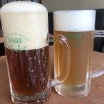 伊豆高原ビール うまいもん処 - 【2018.4.2】左から天城(アルト)¥580 大至(ケルシュ)¥580