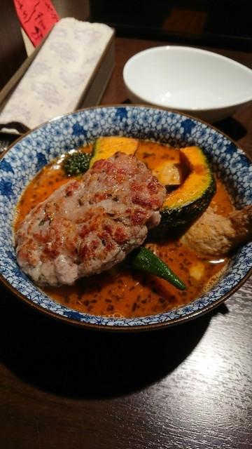SAKURA BROWN - チキン野菜カリー、アメリカンソーセージトッピング