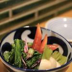 十割蕎麦 千花庵 - 鎌倉野菜の浅漬け