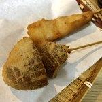 串揚げ 渋田厚志 - 椎茸、豚ばら