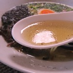 わくわく空間ふわり - 黄金スープの塩ラーメン   500円