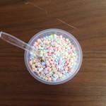 King Soft - ディッピンドッツアイスクリームのレインボー(400円)です。